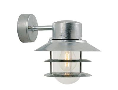 Nordlux Blokhus Down Galvanized Steel Outdoor Wall Light - cheap UK light shop.