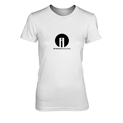(Reynholm Industries - Damen T-Shirt, Größe: XL, Farbe: weiß)