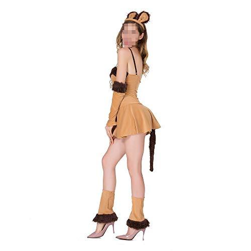 Animal Kostüm Weiblich Party - YyiHan Halloween Kostüm, Outfit Für Halloween Fasching Karneval Halloween Cosplay Horror Kostüm,Halloween Cos Katze Mädchen Löwe Spiel Uniform Party Animal Kostüm