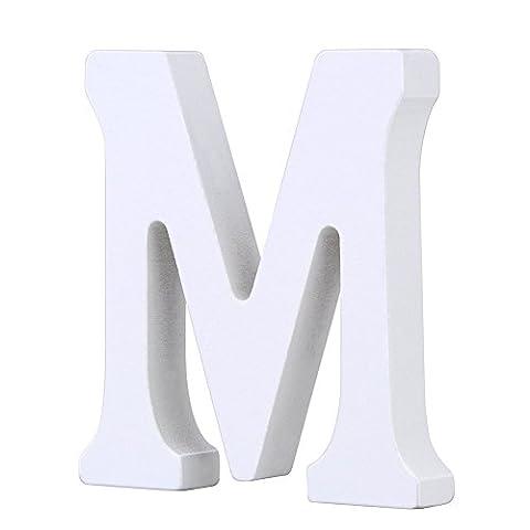 Weiße Holzbuchstaben 8cm von A-Z für Kinderzimmer oder Tür, persönliches