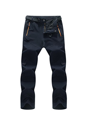 Geval Herren Herbst & Winter Outdoor Winddichte Camping & Wandern Softshell Thicken Pants(