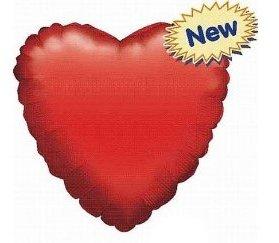 Herz selbstaufblasbar rot Liefermenge = 1 (Rot Folienballons)