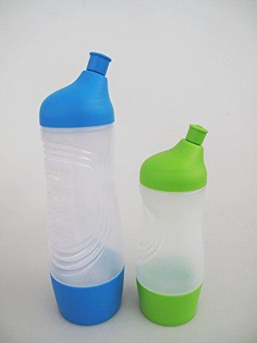 TUPPERWARE Sport amico Sport bottiglia borraccia 750 ml blu + 415 ml verde (Verde 750ml Bottiglia)