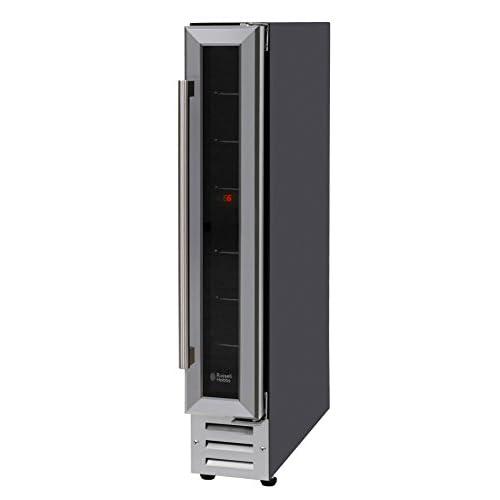 311AakJRdsL. SS500  - Russell Hobbs RHBI7WC1 7 Freestanding or Integrated Wine/Drinks Cooler, 7 bottle capacity, Black Glass