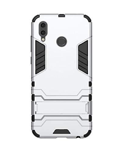 FANFO Huawei Honor Play Hülle, [Tough Armour Series] Rugged Anti-Scratch PC Rückwand Schale + Shockproof TPU Stoßfänger + Faltbarer Halterungen.Silber