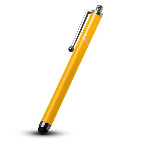 Forefront Cases Kindle Paperwhite 2018 Universal Eingabestift Stylus | Gummi Gespitztes Metallischer iOS Stift | Kratz- & Fettpräventionskit | Styli - Gelb