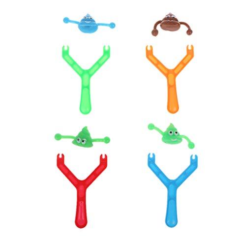 JAGENIE Neuheit Smiley Poo Slingshot Jungen Fun Poop Schießen Emoj Spielzeug Weihnachtsstrumpf Füller Gag, 1 STÜCK, Gelegentliche Anlieferung