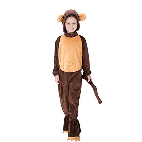 Fanessy. Unisex AFFE Kostüm Overall mit Kapuze Tierkostüm Schlafanzug Jumpsuit für Fasching Halloween Karneval Party Eltern-Kind Familien Kostüm Kind Erwachsene Verkleidung Cosplay Outfits (Baby Affen Kostüm Familie)