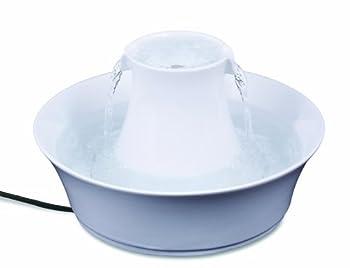 PetSafe - Fontaine à eau en Céramique pour Chats et Chiens Drinkwell Avalon 2L au Design Elégant, avec Filtre à Charbon, Anti-Débris, Facile à Nettoyer - blanc