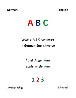 Letters A B C converse in German - English verse: English