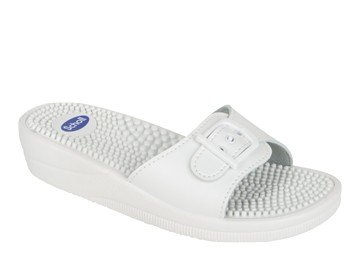 Scholl - sandali fitness massaggio taglia 40 bianco