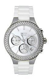 Dkny Women's NY8894 White Ceramic Quartz Watch with Silver Dial