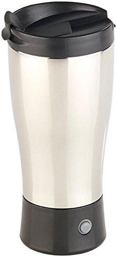 Rosenstein & Söhne Selbstrührende Tassen: Selbstrührender Thermobecher mit elektrischem Quirl, 450 ml, BPA-frei (Thermobecher Edelstahl)