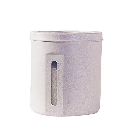 Weizen-Reis-Eimer des Korn-5kg / 10kg Ausgestattet Mit Meter Cup Sealed Rice Box Green Pink -