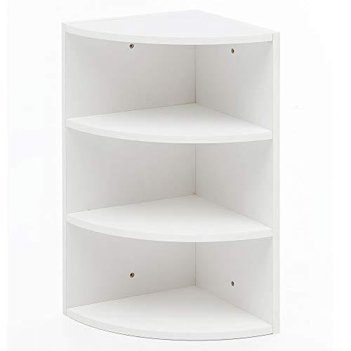 FineBuy Eckregal Weiß 30 x 60 x 30 cm FB14558 Holz Wandregal Eck Hängeregal | Holzregal für die...