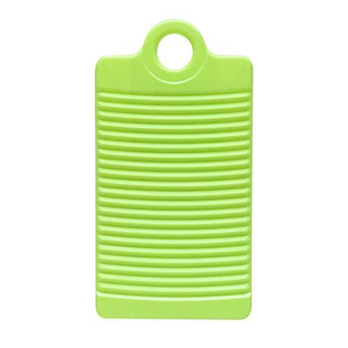 MNEFEL Waschbrett für Kinder, dick, Rutschfest, für Shirts, Kleidung, Reinigung, Waschbrett, grün, 31.5 x 16.8cm