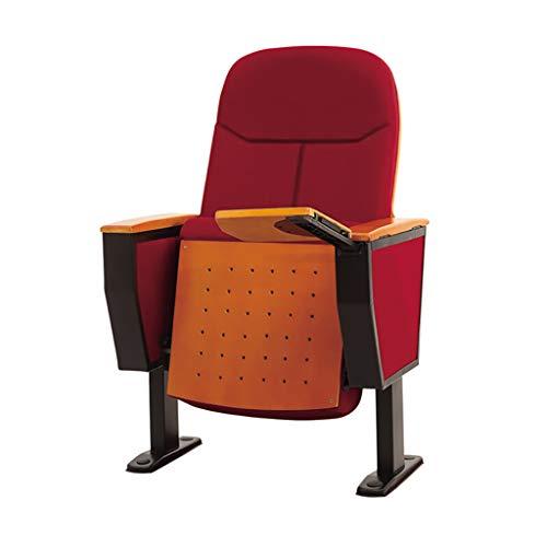 Como Reihe der Auditorium-Stühle, Theater-Stühle, Kino-Stühle mit faltbaren verborgenen Schreibtafeln, Bequeme Armlehnen, rot