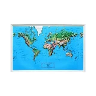 American Educational 434 World Geo-Physical Map by American Educational Products