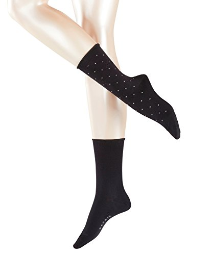 ESPRIT Damen Socken Little Dots, 2er Pack, Schwarz (Black 3000), 39-42
