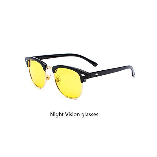 Sportbrillen, Angeln Golfbrille,Classic Brand Polarisiert Sunglasses Men Women Half Metal Mirror Unisex Sun Glasses Gafas De Sol UV400 CC0832 C14