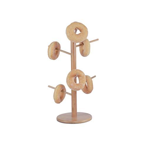 ZN-Cake stand en Bois détachable présentoir Pain/Donut présentoir de pâtisserie, Plateau de Stockage de Tasse à café Multifonctions/Bijoux (50 * 20cm)