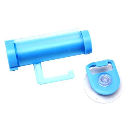 Plástico ROLLING Tubo exprimidor fácil útil pasta de dientes dispensador de baño Holder Color al azar