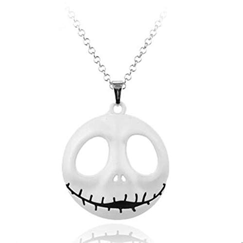 The Nightmare Before Christmas Sally Jack Skellington Skull Necklace Mens Womens Collar Xmas Cosplay Gift Jewelry