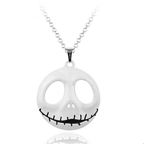 DADATU Halsketten für Herren The Nightmare Before Christmas Sally Jack Skellington Skull Necklace Mens Womens Collar Xmas Cosplay Gift Jewelry