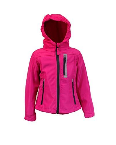 Kinder Mädchen Softschelljacke Outdoorjacke Übergangsjacke Jacke (pink, 110/116) Fallen Kleiner...
