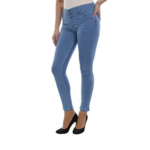 Raiter Women's Cotton Super Skinny Jeans (Light Blue, 28)