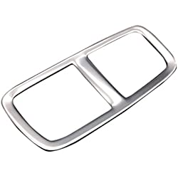 YUZHONGTIAN Stainless Steel Inner Rear Armrest Air Vent Frame Cover Trim For Car Accessory