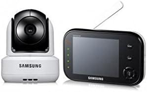 Samsung SEW-3037 - Sistema de monitorización para bebés (8,9 cm/ 3,5 pulgadas, pantalla LCD, soporta hasta 4 cámaras, QVGA, sensor CMOS, visión nocturna), color blanco
