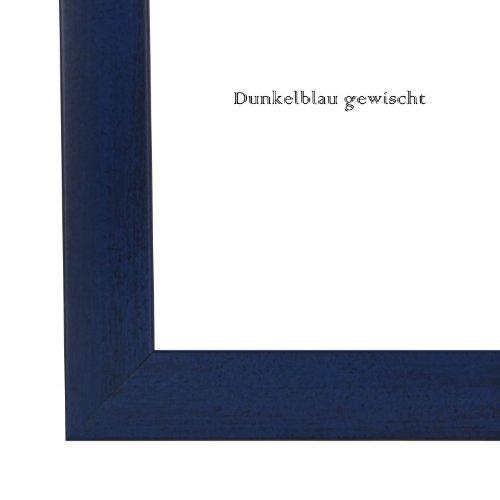 Bilderrahmen 84,1x118,9 cm (DIN A0), in Dunkel Blau gewischt mit Rückwand und Acrylglas - Foto Galerie Poster Rahmen NEU