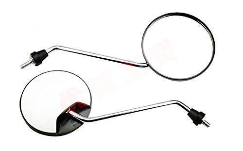 Wooya Elettrico Moto Retrovisore Elettrico Moto Specchio Specchio Retrovisore Vernice Convesso Specchio-Bianca