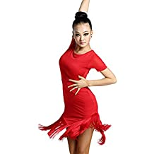 Motony Vestido de Baile Latino Baile Latino Faldas Faldas Ropa de Mujer Traje