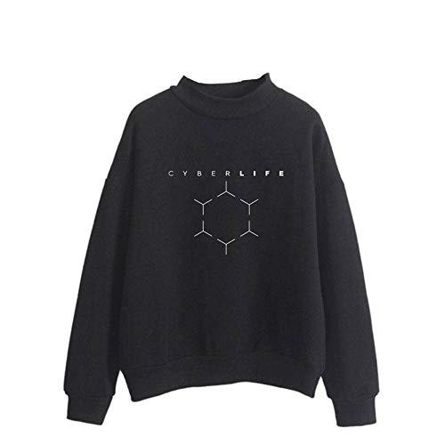 AILIENT Detroit Become Human Stilvoll Sweatshirts Liebhaber Sweatshirts Winter Warme Langarm Sweatshirt Langarmshirt Pullover Modisch Beiläufige Modisch Sweatshirts