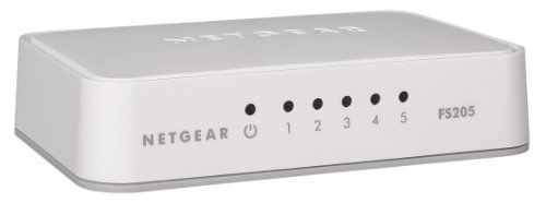 Netgear FS205-100PES (Fast Ethernet Unmanaged Switch, Kunststoffgehäuse, 5 Port - Ports Hub 5 Netgear