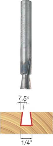 Freud 22-100 1/4-Inch Diameter 7-1/2-Degree Dovetail Router Bit with 1/4-Inch Shank by Freud -