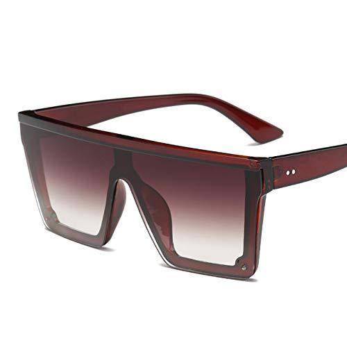 SNXIHES Sonnenbrillen Übergroße Quadratische Sonnenbrille Männer Frauen Flat Top Fashion One Piece Objektiv Sonnenbrille Für Frauen Marke Shades Spiegel 3