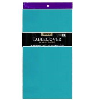 1Einweg Kunststoff Tisch Bezug/Tischdecke (Blaugrün) von Party