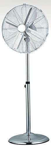 16 Pedestal Chrome Floor Standing Fan with 3 Speed Settings - Next Day Delivery* by Ocean Breeze (Floor Standing Fan)