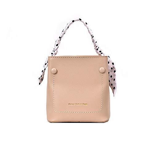 ziYOU Women's New Silk Schal Bucket Bag Messenger Bag Wilde Mode Handtasche Schultertasche(18cmx17cmx11cm, Rosa) -