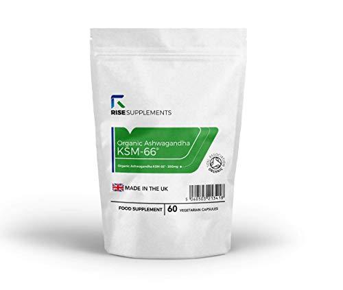 KSM 66 Ashwagandha Kapseln (Withania somnifera Extrakt) [300 mg] | 60 vegetarische Tabletten | UNTERSTÜTZT DAS IMMUNSYSTEM, WIRKT GEGEN STRESS | Hergestellt in Großbritannien -
