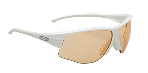 ALPINA Fahrradbrille Praffix 5.0 Vl+, white CV+ orange, One size, A8455 111