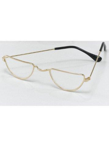 Viktorianische Brillen Halbmond Gläser