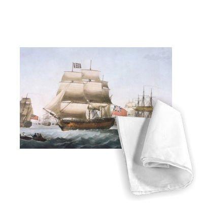 Unbekannt HMS Victory, 1806 (w/c on paper) by English. - Geschirrtuch 100% Baumwolle - Geschirrtücher - 46x70cm - Art247