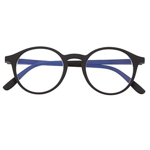 DIDINSKY Blaulichtfilter Brille für Damen und Herren. Blaufilter Brille mit stärke oder ohne sehstärke für Gaming oder Pc. Gummi-Touch-Tempel und Blendschutzgläser. Graphite +2.0 - UFFIZI