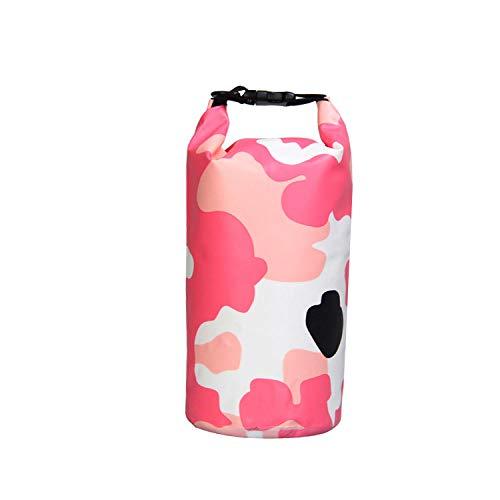 raybag Packsack, 10L Wasserdichter Packsack Wasserdichter Packsack Mit Langem Verstellbarem Riemen Für Kajak-Bootsausflug Kanu/Angeln/Rafting/Schwimmen/Snowboarden, 10L_ Pink Camouflage
