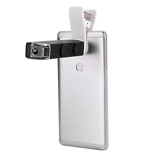 VBESTLIFE 60X-100X Optischer Zoom LED Mikroskopobjektiv,Handy Microscope mit Clip für Mobiltelefone
