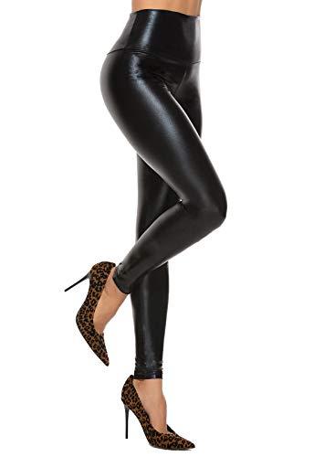 rivenditore all'ingrosso b1289 1d44c Pantaloni in similpelle, leggins di moda per look rock - consigli.it